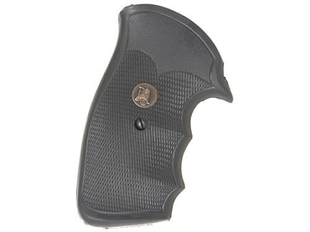 "Pachmayr Gripper Grips with Finger Grooves S&W K, L-Frame ""Old Style"" Round Butt Rubber Black"