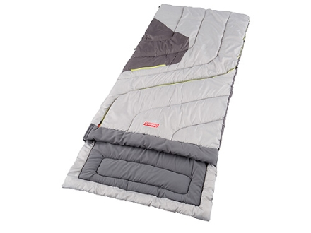Coleman Comfort Control Big and Tall 30-70 Degree Sleeping Bag 36&quot; x 84&quot; Polyester Green and Gray