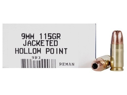 Ultramax Remanufactured Ammunition 9mm Luger 115 Grain Jacketed Hollow Point Box of 50