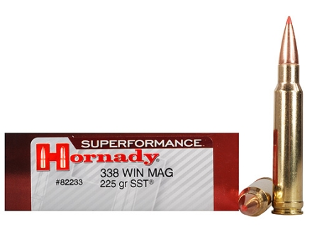 Hornady SUPERFORMANCE Ammunition 338 Winchester Magnum 225 Grain SST Box of 20