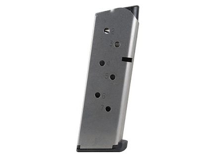 Nighthawk Custom Magazine with Low Profile Base Pad 1911 Officer 45 ACP 7-Round Stainless Steel