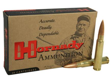 Hornady Vintage Match Ammunition 8x57mm JS Mauser (323 Diameter) 196 Grain Boat Tail Hollow Point Box of 20