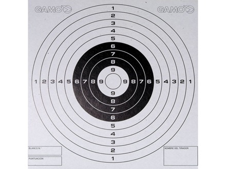 Gamo Airgun Target 5-1/2&quot; x 5-1/2&quot; Bullseye Package of 100