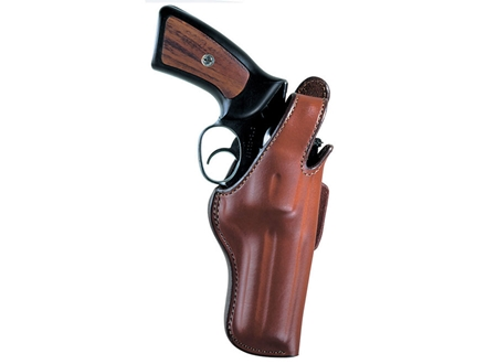 "Bianchi 5BHL Thumbsnap Holster Right Hand S&W N-Frame 5"" Barrel Suede Lined Leather Tan"