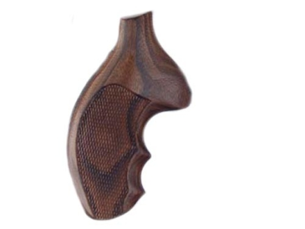 Hogue Fancy Hardwood Grips with Finger Grooves Taurus Small Frame Checkered Pau Ferro