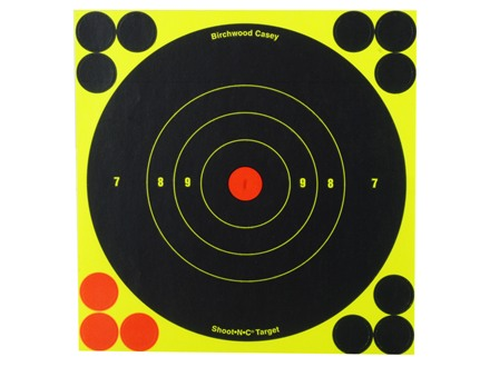 "Birchwood Casey Shoot-N-C Target 6"" Bullseye Package of 60 with 240 Pasters"