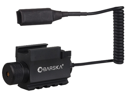 Barska GLX Laser Sight 5mW Red Laser with Integral Weaver-Style Mount and Momentary Switch Black
