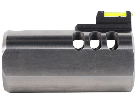Volquartsen V-Comp Compensator with Fiber Optic Front Sight Slab-Side Barrel Ruger Mark II, Mark III, 22/45 Silver