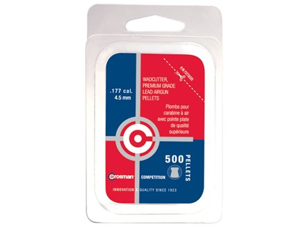 Crosman Airgun Pellets 177 Caliber 7.4 Grain Wad Cutter Flat Nose Blister Card of 500