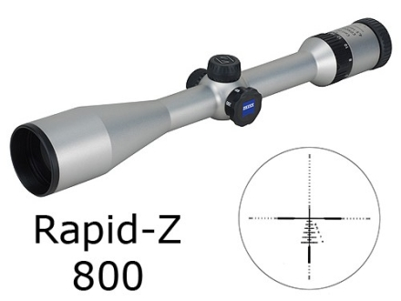 Zeiss MC Conquest Rifle Scope 4.5-14x 44mm Side Focus Rapid Z 800 Reticle Silver