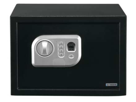 Stack-On Personal Safe with Biometric Lock Black
