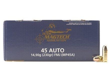 Magtech Shootin' Size Ammunition 45 ACP 230 Grain Full Metal Jacket Box of 250