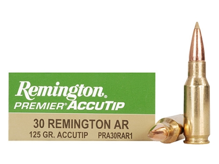 Remington Premier Ammunition 30 Remington AR 125 Grain AccuTip Box of 20