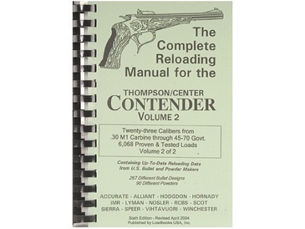 "Loadbooks USA ""Thompson Center Contender Volume 2"" Reloading Manual Calibers 30 M1 Carbine to 45-70 Government"