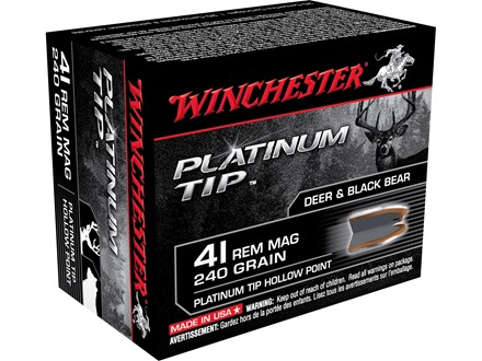 Winchester Supreme Ammunition 41 Remington Magnum 240 Grain Platinum Tip Hollow Point Box of 20