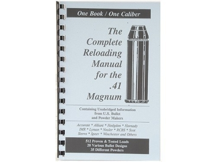 Loadbooks USA &quot;41 Remington Magnum&quot; Reloading Manual