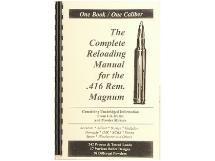 "Loadbooks USA ""416 Remington Magnum"" Reloading Manual"