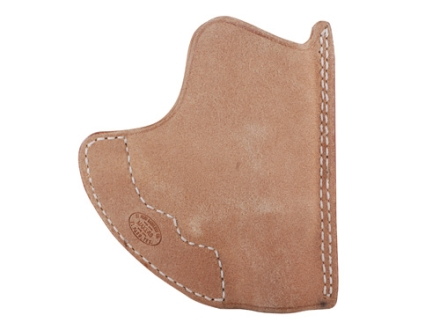 El Paso Saddlery Pocket Max Pocket Holster Ambidextrous Ruger LCR Horsehide Natural