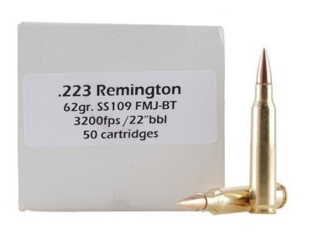 Doubletap Ammunition 223 Remington 62 Grain M855 SS109 Penetrator Full Metal Jacket Boat Tail Box of 50
