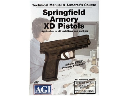 "American Gunsmithing Institute (AGI) Technical Manual & Armorer's Course Video ""Springfield Armory XD Pistols"" DVD"