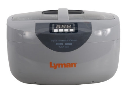 Lyman Turbo Sonic 2500 Ultrasonic Case Cleaner with Turbo Sonic Case Cleaner and Steel Cleaner Solutions 110 Volt