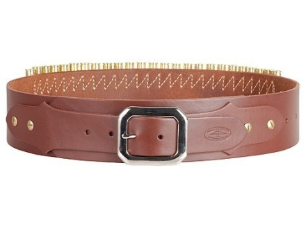 Hunter Adjustable Cartridge Belt 44,45 Caliber Leather Antique Brown