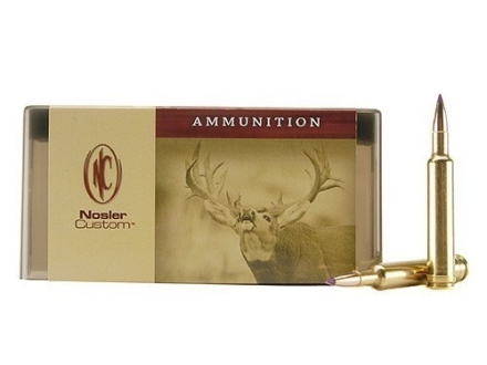 Nosler Custom Ammunition 264 Winchester Magnum 120 Grain Ballistic Tip Hunting Box of 20
