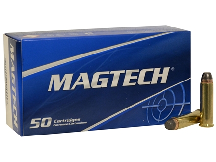 Magtech Sport Ammunition 357 Magnum 158 Grain Semi-Jacketed Soft Point Nickel Plated Brass Box of 50