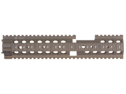 "Troy Industries 12"" MRF-CX Battle Rail Free Float Quad Rail Handguard AR-15 Extended Carbine Length Flat Dark Earth"