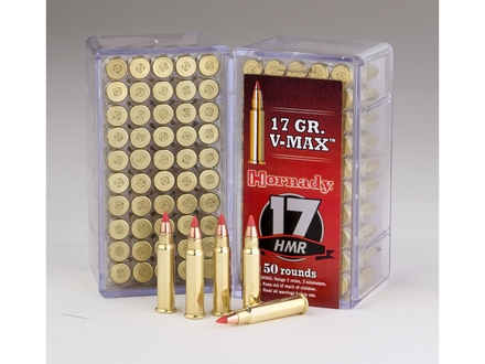Hornady Varmint Express Ammunition 17 Hornady Magnum Rimfire (HMR) 17 Grain V-Max Box of 50