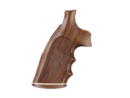 Hogue Fancy Hardwood Grips with Accent Stripe, Finger Grooves and Contrasting Butt Cap Colt Anaconda, King Cobra Checkered Rosewood