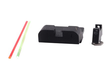 Warren Tactical Sight Set Glock Sevigny Competition Rear, Fiber Optic Front Steel Matte