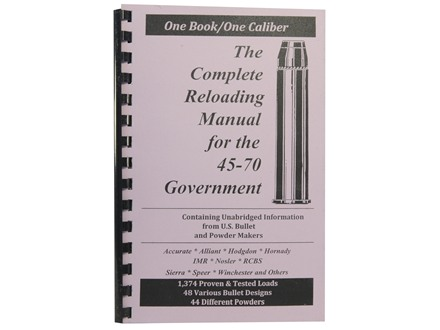 Loadbooks USA &quot;45-70 Government&quot; Reloading Manual