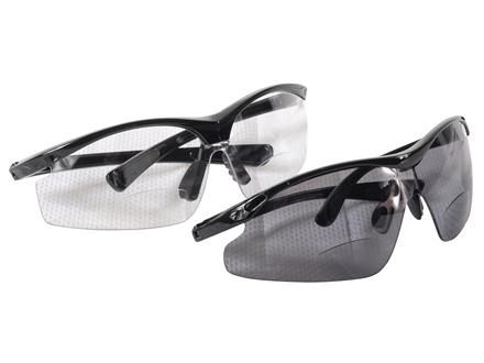 HySkore Bi-Focal Safety Glasses Set of One Mirror Tint and Smoke Anti-Fog Lense Polymer Black