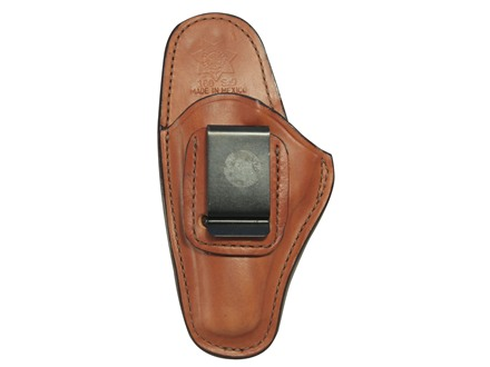 Bianchi 100 Professional Inside the Waistband Holster Left Hand Beretta 84, 84F, 85, 85F Cheetah, 85 Puma, Bersa Thunder 380, Sig Sauer P230, P232 Leather Tan