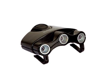 Cyclops Orion Cap Light White LEDs with Batteries (CR2032) Polymer Black