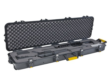 "Plano Gun Guard AW Series Double Scoped Rifle Gun Case with Wheels 52"" Polymer Black"