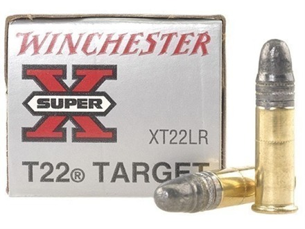 Winchester Super-X Ammunition T22 Target 22 Long Rifle 40 Grain Lead Round Nose Box of 500 (10 Boxes of 50)