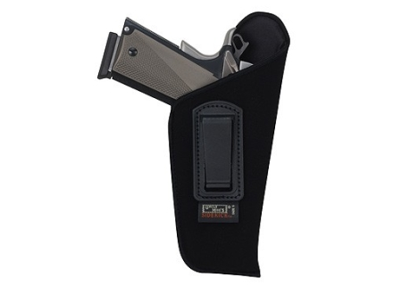 Uncle Mike&#39;s Open Style Inside the Waistband Holster Right Hand Medium Double-Action Revolver 4&quot; Barrel Ultra-Thin 4-Layer Laminate  Black