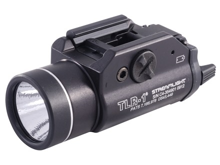 Streamlight TLR-1 Tactical Illuminator Flashlight White LED  Fits Picatinny or Glock-Style Rails Aluminum Matte