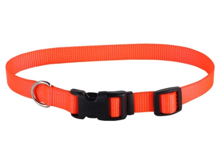 "Remington Adjustable Clip Dog Collar 3/4"" Canvas and Nylon"