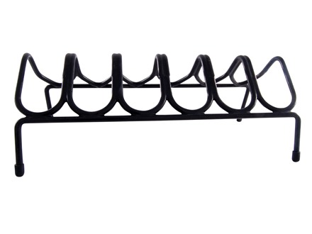 Lockdown Gun Rack 6 Pistol Rack Vinyl Coated Steel Black