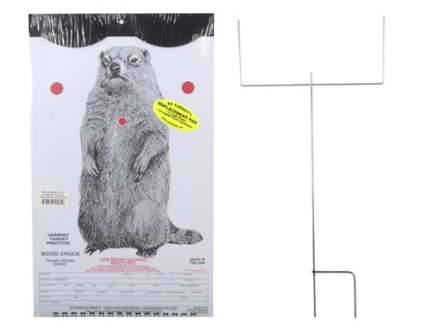 "EZ Target Woodchuck Master Pack Target 11"" x 17"" Paper Package of 15 with Stand and Backer"