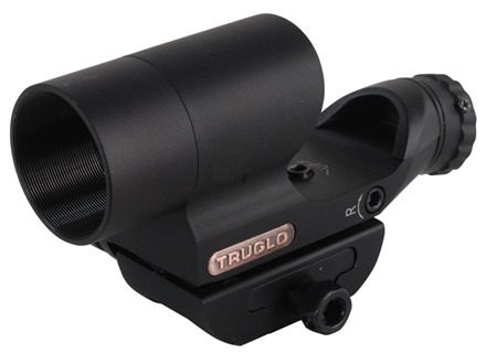 TRUGLO Triton Red Dot Sight Red, Green and Blue 4-Pattern Reticle (2.5 MOA Dot, 5 MOA Dot, 2.5 MOA Center Dot, 5 MOA Center Dot) with Inegral Weaver-Style Mount Matte