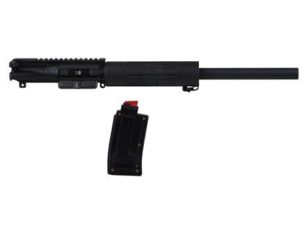 DPMS AR-15 A3 Flat-Top Conversion Upper Assembly 22 Long Rifle 1 in 16&quot; Twist 16&quot; Bull Barrel Chrome Moly Matte with Free Float Handguard, 10-Round Magazine