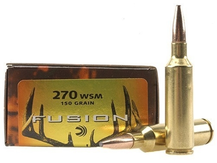 Federal Fusion Ammunition 270 Winchester Short Magnum (WSM) 150 Grain Spitzer Boat Tail Box of 20