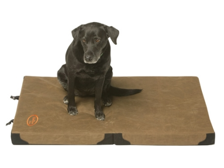 "Mud River Frisco Folding Travel Dog Bed 44"" x 30"" x 3"" Waxed Canvas Brown"