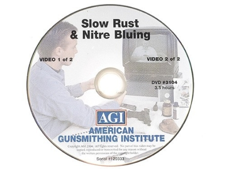 American Gunsmithing Institute (AGI) Video &quot;Rust and Nitre Bluing&quot; DVD
