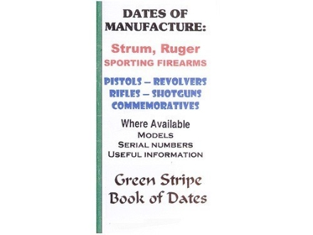 "Green Stripe Data Books ""Sturm Ruger"" Book by Firing Pin Enterprises"