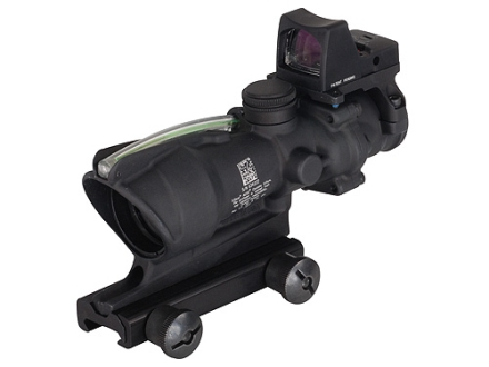 Trijicon ACOG TA31-RMR BAC Rifle Scope 4x 32mm Dual-Illuminated Crosshair 223 Remington Reticle with 3.25 MOA RMR Red Dot Sight and TA51 Flattop Mount Matte